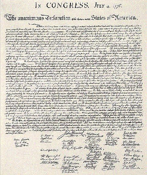 The Final Text Of The Declaration Of Independence July 4 1776