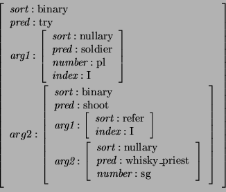 Example semantic structures